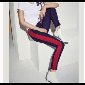 Rag & Bone Blue Mazie Side-stripe Skinny Jeans